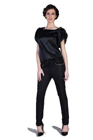 black cashmere pants   black silk top   Asita Sahabi