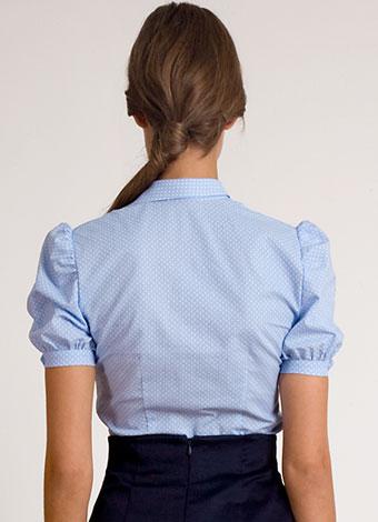 blue cotton blouse with bow | designer clothes | Asita Sahabi