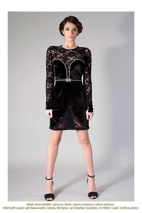 black velvet and lace cocktail dress with rhinestones