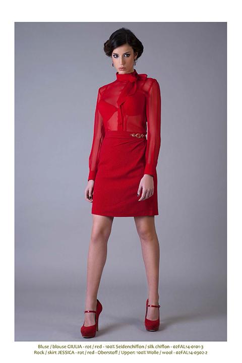 red blouse and skirt | classic elegant womenswear| Asita Sahabi