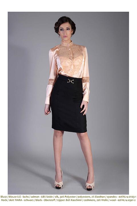 lace top in mandarine | apricot silk blouse | ASITA SAHABI