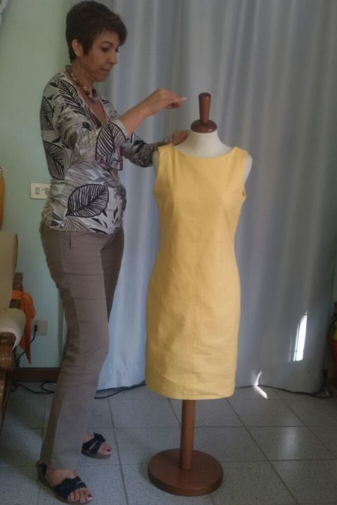 yellow linen dress| classic-elegant summer dress | Asita Sahabi