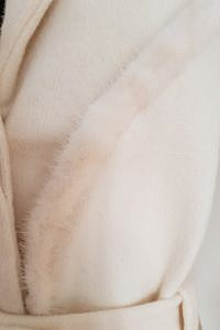 white coat with mink in Angora wool | mink winter coat | Asita Sahabi