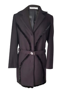 black cashmere coat with mink | ASITA SAHABI