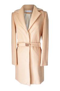 vanilla Angora coat with rhinestones | ASITA SAHABI