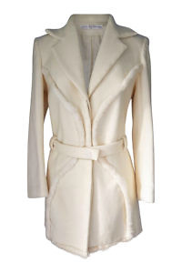 white Angora coat with mink | ASITA SAHABI