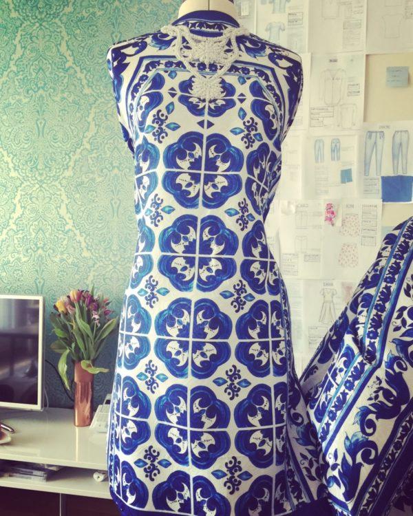 tube dress with tile print | elegant dresses | Asita Sahabi
