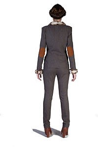 Tweed-Kostüm mit Fell | Businessmode |ASITA SAHABI