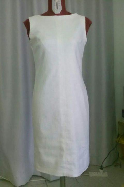 white linen dress| classic-elegant summer dress | Asita Sahabi