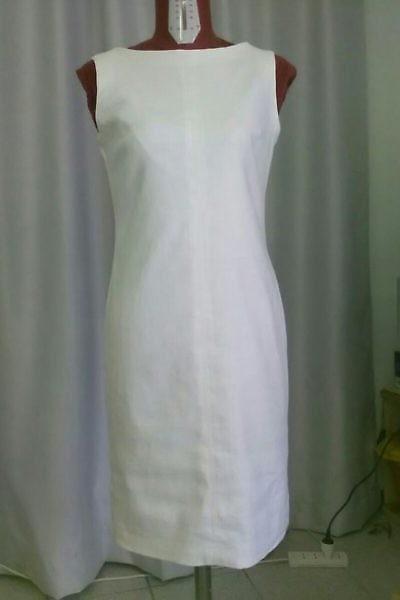 klassische weisses Leinenkleid | Sommerkleid | ASITA SAHABI
