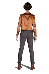 elegante Tweed-Hose mit Gürtel und Strass | ASITA SAHABI