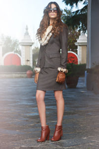tweed costume with fur | country look | Asita Sahabi