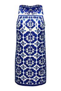 blau-weisses Sommerkleid mit Fliesenmuster | ASITA SAHABI