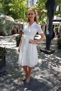 Hemdblusenkleid in Cremeweiss | ASITA SAHABI