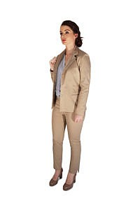 beige cotton pantsuit | business outfits | ASITA SAHABI