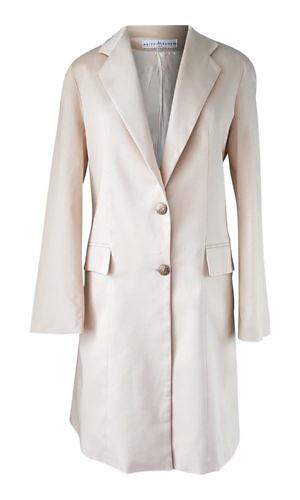 beige cotton satin blazer coat | ASITA SAHABI