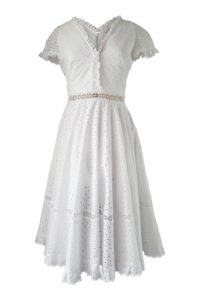 white midi dress in cotton lace | ASITA SAHABI