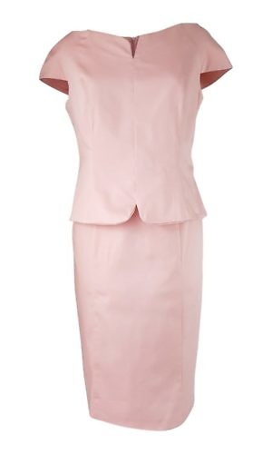 pink cotton shift dress in midi length | ASITA SAHABI