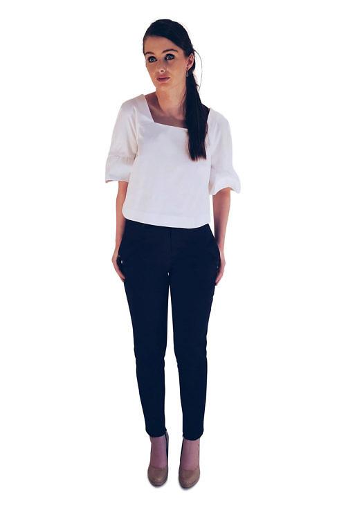 white cotton blouse and blue cotton trousers | ASITA SAHABI