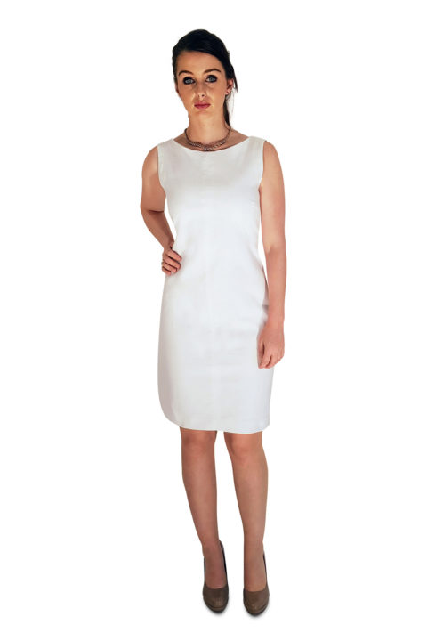shift linen dress in white | summer dresses | ASITA SAHABI