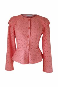 coral cotton lace blouse | ASITA SAHABI