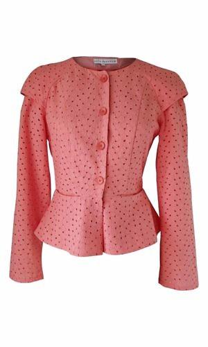 coral cotton lace blouse | ASITA SAHABI