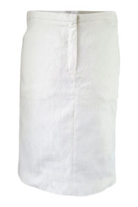white pencil skirt in cotton jacquard | ASITA SAHABI