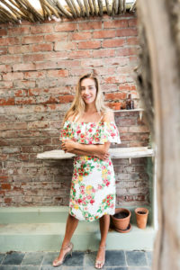 florales Trägerkleid mit Volant | Resortkleid | ASITA SAHABI