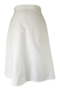 white cotton midi skirt | white plate skirt | ASITA SAHABI