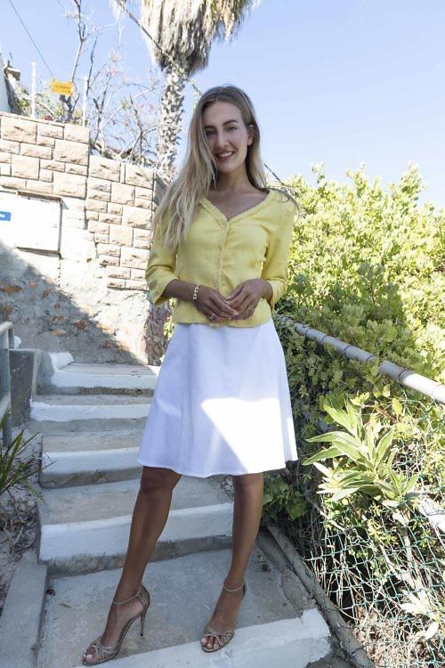 yellow silk bouclé jacket like Chanel jacket | ASITA SAHABI