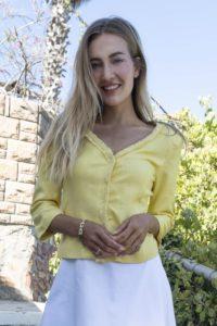 yellow silk Bouclé jacket with fringes | ASITA SAHABI