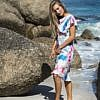 floral midi chiffon dress with ruffles | ASITA SAHABI