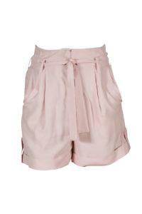rosé Paperbag-Shorts aus Tencel-Leinen MINA | ASITA SAHABI