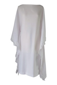 white kaftan dress with lace | ASITA SAHABI