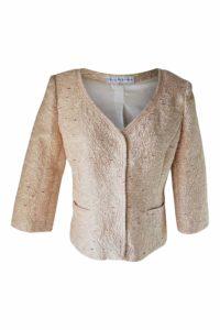 rosa Bouclé-Jacke | Kurzjacke aus Bouclé in Lachs