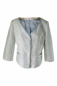 light blue bouclé jacket | ASITA SAHABI