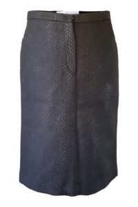 black metallic pencil skirt with snake print | ASITA SAHABI