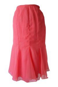 coral silk chiffon skirt | pink midi skirt | ASITA SAHABI