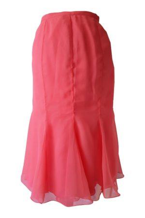 coral silk chiffon skirt   pink midi skirt   ASITA SAHABI