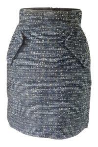 Bouclérock mit Streifen in Blau und Weiss | ASITA SAHABI