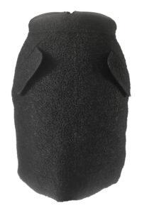 black bouclé skirt   black mini skirt   ASITA SAHABI