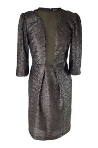 black sequin dress with transparent cutouts