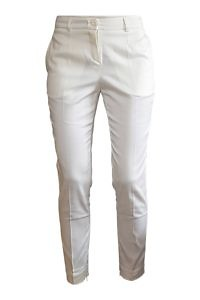 ivory cigarette pants in cotton stretch ESTHER