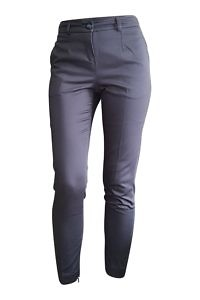 dark blue cigarette pants | marine blue cotton pants