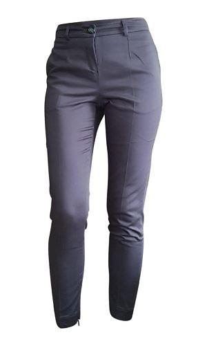 dark blue cigarette pants | marine blue cotton pants