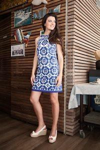 Kleid im 60ger Jahre Stil | Kleid mit Porzellanprint | ASITA SAHABI