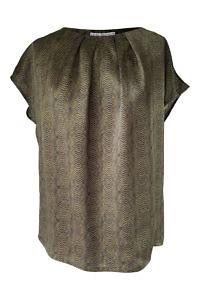 black python printed silk blouse | ASITA SAHABI