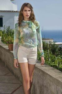 emerald silk chiffon blouse | riviera style fashion | Asita Sahabi