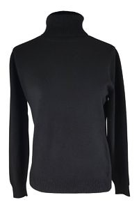 black cashmere turtleneck sweater | fine knitwear