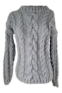 grey hand knitted alpaca sweater | luxury winter wear